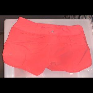 Lululemon Speed Shorts H2O  Size 8